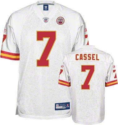 Reebok Kansas City Chiefs Matt Cassel 7 White Authentic NFL Jersey Sale