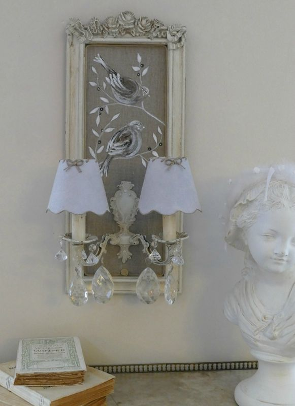89 best Abat jour images on Pinterest Chandeliers, Shabby chic - tour a metaux fait maison