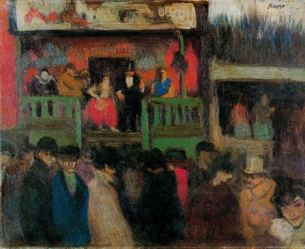Pablo Picasso, Fairground Stall, 1900, Museu Picasso, Barcelona early picasso