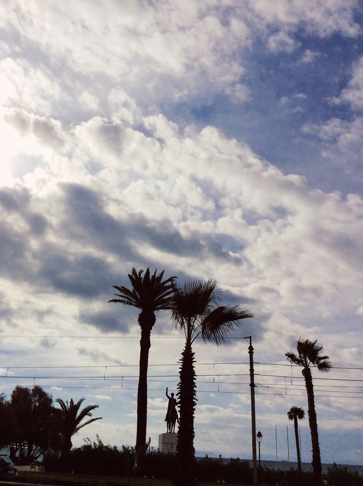 Palmtrees against the clouds.... by Athina Atesoglou - Photo 129636737 - 500px