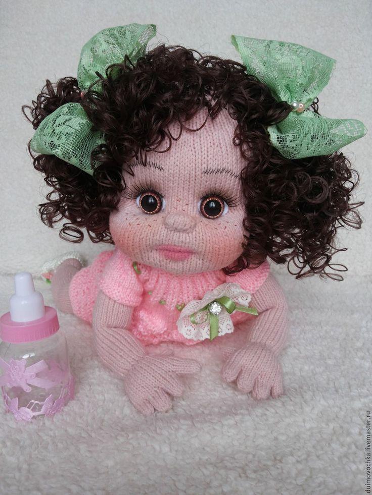 Купить Малышка Софийка - разноцветный, вязаная кукла, вязаный пупс, пупс, Пупсик