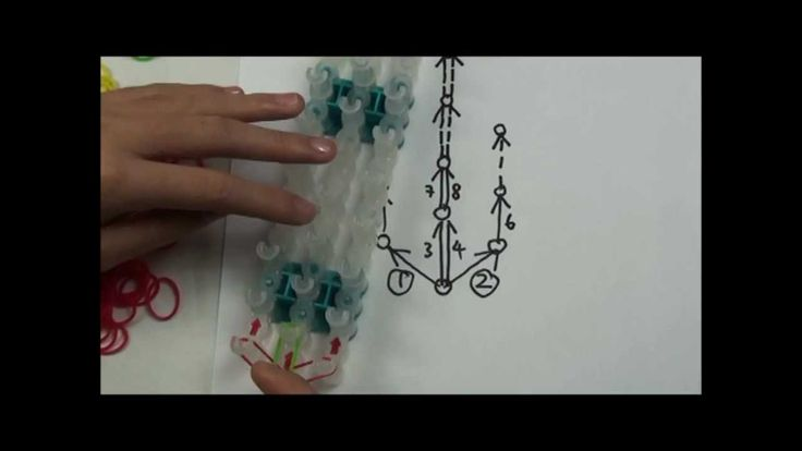 "Lesson 10: ""Raindrops"" pattern Rainbow Loom® Bracelet"
