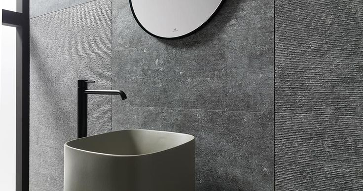 ⇢ Pietra Blue by Porcelanosa | Belgian #stone made #flooring and ceramic #walltile #tiles #architecture #interiordesign