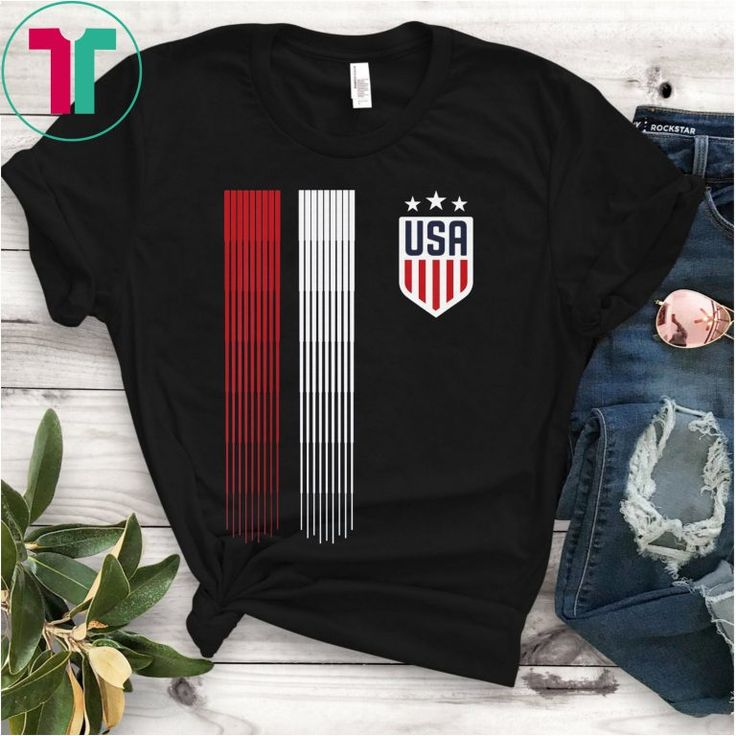 USA T-shirt Cool USA Soccer T-shirt Womens Mens Kids