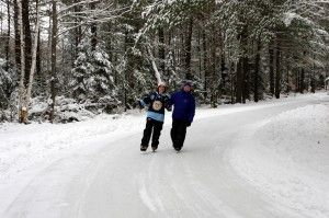 Skate through the woods at Arrowhead Provincial Park!