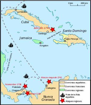 War of Jenkins' Ear map-es.svg