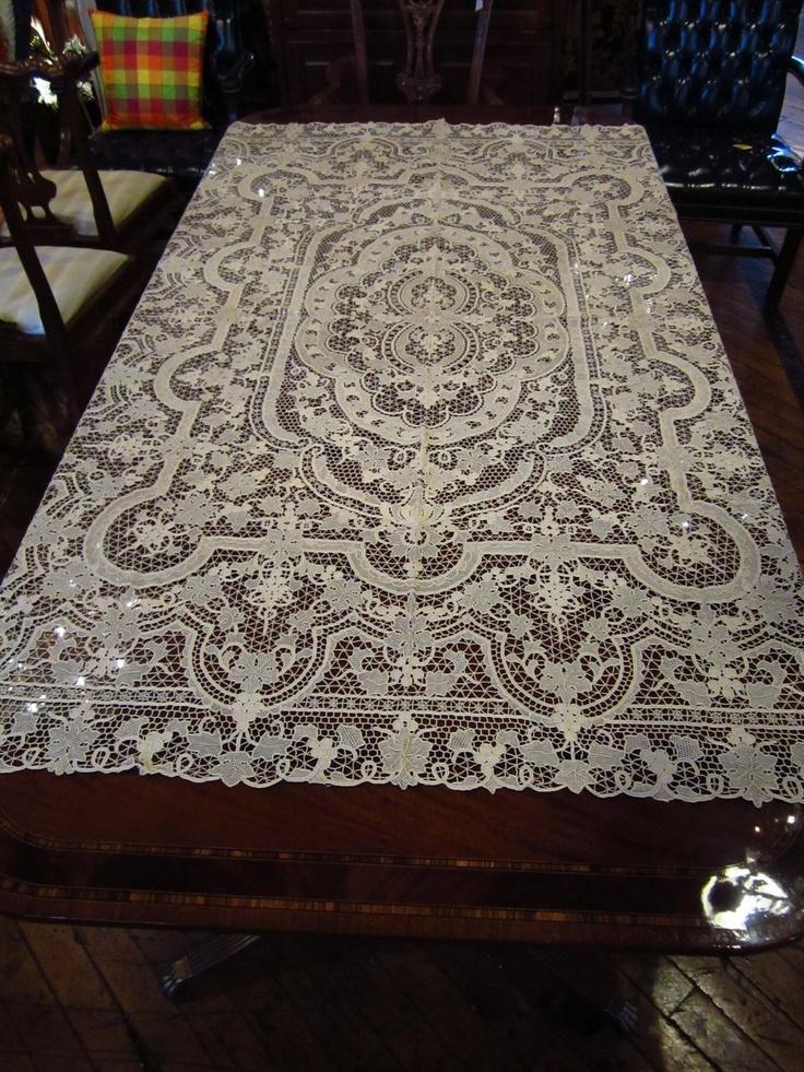 Point De Venise Lace Tablecloth...