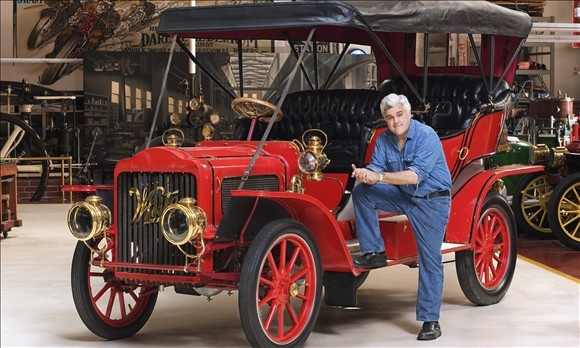 Comedian and talk-show host Jay Leno's vast collection takes up three adjacent warehouses in Burbank, Calif. But it's not the number of vehicles in his garage that makes him the consummate car guy. It's the sheer variety, coupled with the fact that he regularly drives many of them rather than letting them collect dust, even superexpensive and rare ones such as his 1955 Mercedes-Benz 300SL Gullwing. The very red car Leno is posing with here is in fact a 1908 White steam car.