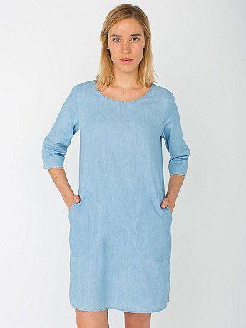 Denim Tent Dress, $58 // American Apparel