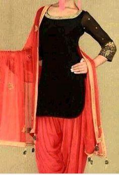 Graceful Dark Black Pure Cotton Party Wear Churidar Kameez