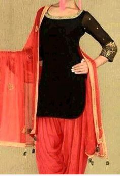 Graceful Dark Black Pure Cotton Party Wear Churidar Kameez