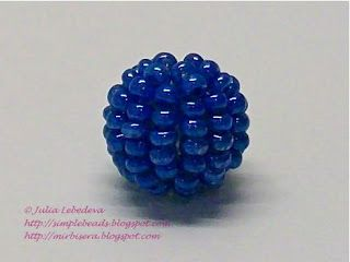 Beaded bead. Free detailed tutorial.