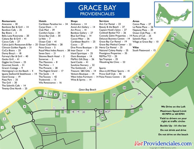 Map Of Grace Bay Providenciales