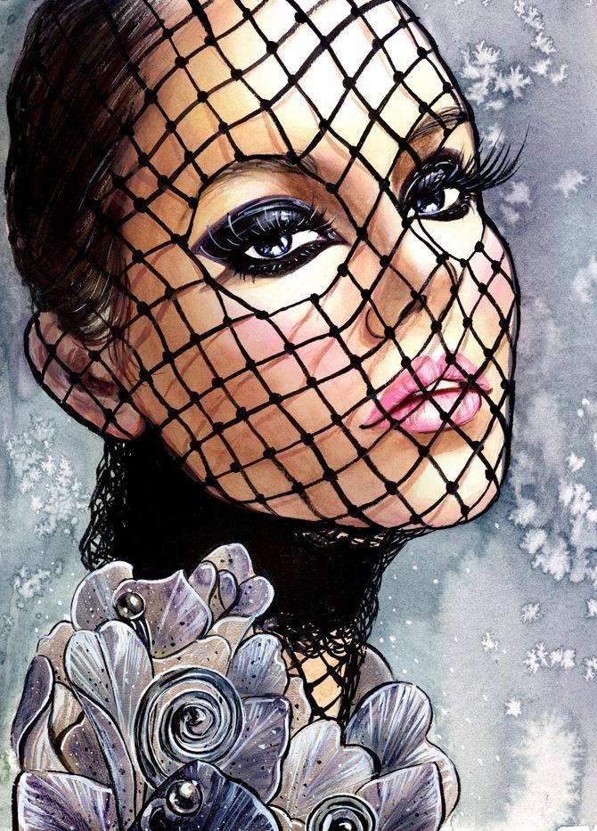 Elizabeth Ulloa Beauty Illustration #SunnyGu