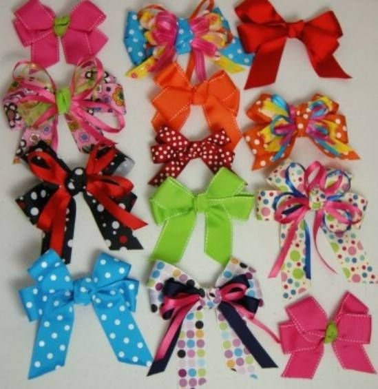 Easy Traditional Bows - 30 Fabulous and Easy to Make DIY Hair Bows
