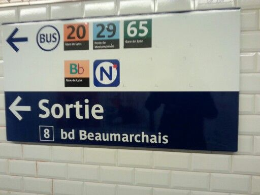 #Exit 8 at #Bastille #metro station to get to the #iwdparis2014 venue.