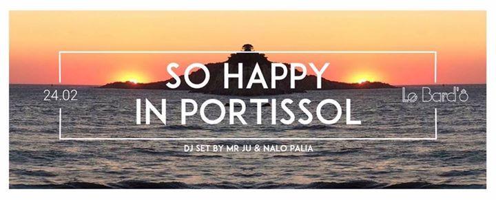 SO HAPPY IN PORTISSOL by Mr Ju & Nalo Palia Vendredi 24 Février  🔴 SO HAPPY IN PORTISSOL 🔴 Les soirées SO HAPPY IN PORTISSOL arrivent au BARD'Ô …. Calé avec Nalo Palia & décalé avec Mr Ju  HAPPY PEOPLE, HAPPY MUSIC ! 🎶 Le Bard'o se transforme en piste de danse pour vous faire profiter du... https://www.unidivers.fr/rennes/so-happy-in-portissol-by-mr-ju-nalo-palia/ https://www.unidivers.fr/wp-content/uploads/2017/02/facebook