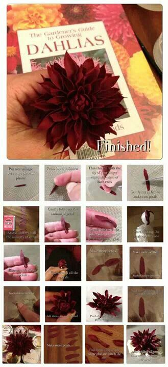 How to make a Dahlia Without Cutters by Lisa Templeton