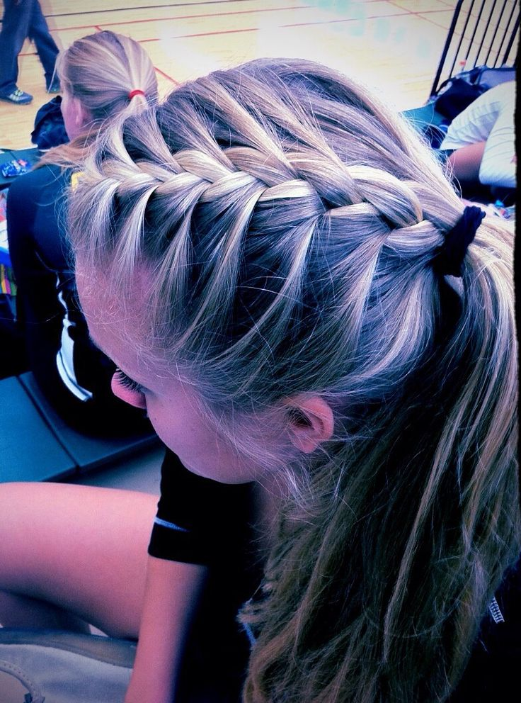 cute hair for volleyball tournaments! love it!