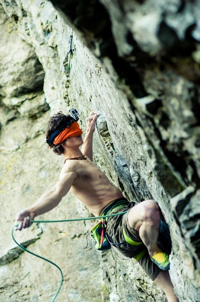 Adam. Ondra.  (fyi this route is graded 8a) - Moja Gear