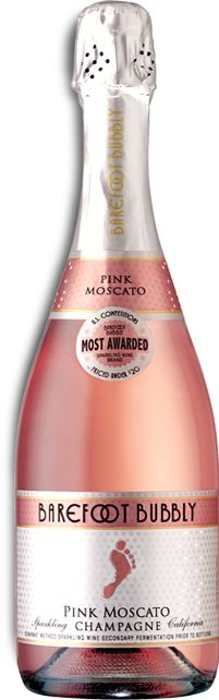 Pink Moscato Champagne, from Barefoot. My absolute favorite champagne. VERY sweet, but scrumptious.