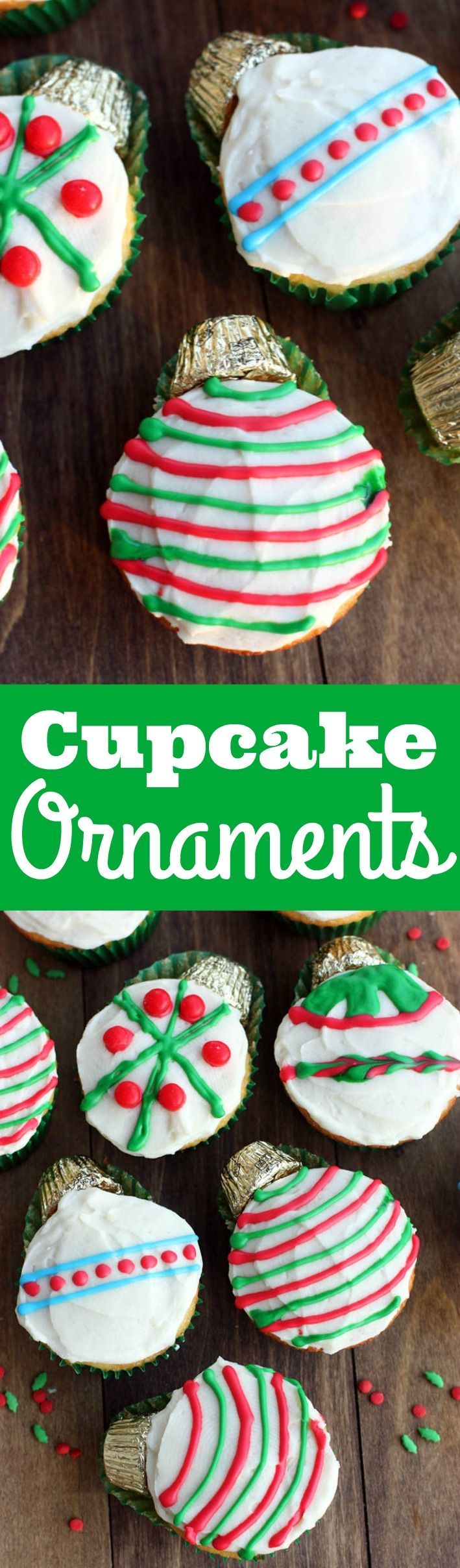 Cupcake Ornaments | a fun and easy Christmas treat your kids will enjoy making and eating!| Tastes Better From Scratch