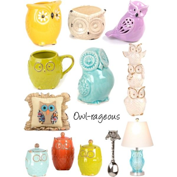 get owl rageous with owl decor kirklands polyvore - Owl Decor