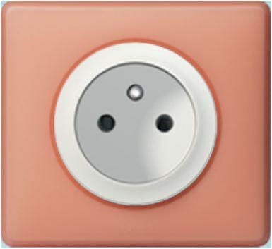 Prise électrique double  Céliane Legrand couleur mirabelle