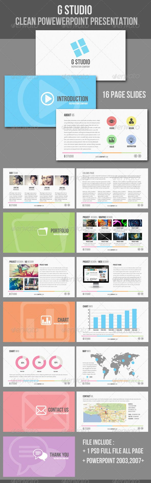 Clean #Powerpoint #Presentation Template