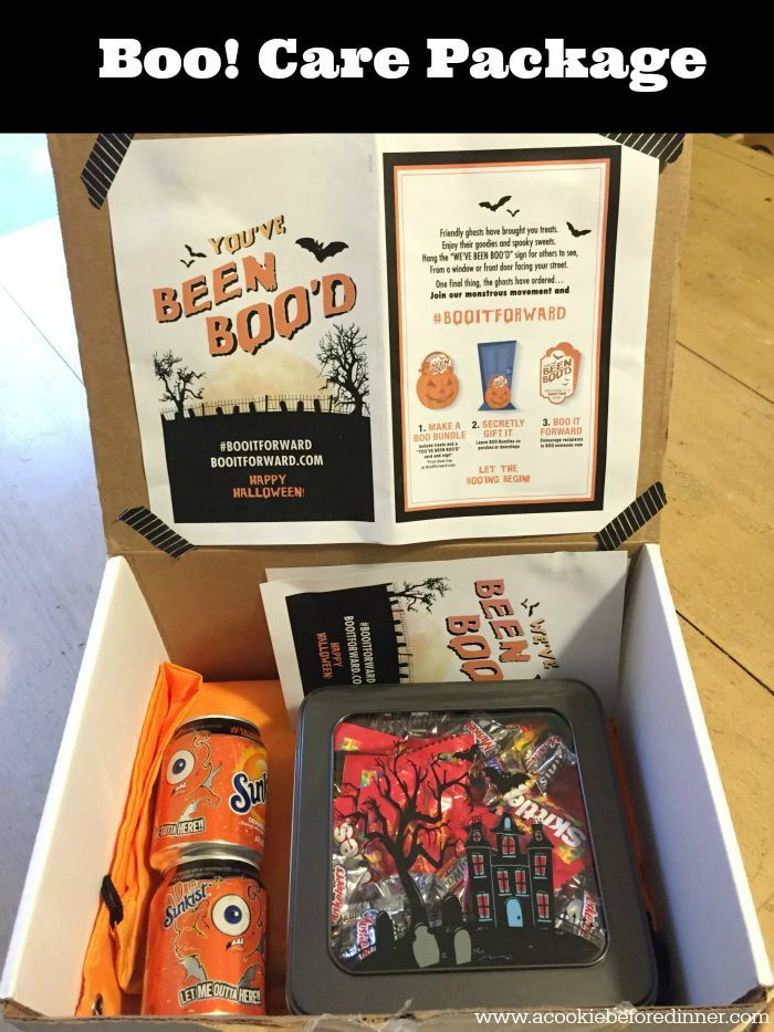 Boo It Forward by sending a Halloween Care Package. This is a great way to send a care package for a college student! #booitforward #ad