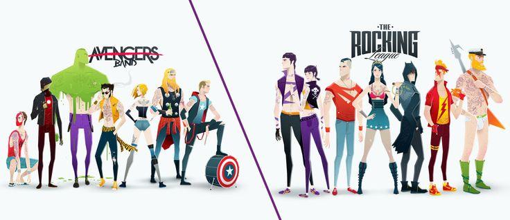 Super Rockers, Los Super Heroes en version Estrellas de Rock - Creadictos