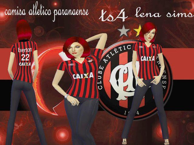Camisas de Futebol do Atlético Paranaense feminina http://lenasims1.blogspot.com.es/2016/07/camisa-atletico-de-paranaense.html