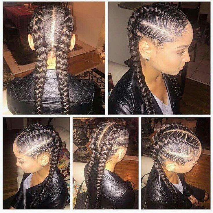 Peachy 1000 Ideas About Black Braided Hairstyles On Pinterest Braided Hairstyles For Women Draintrainus