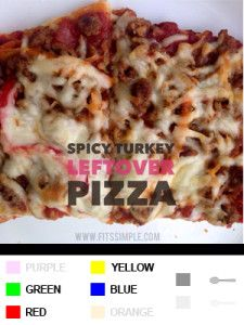 21 Day Fix Recipes, Meal Plans, and ALL THE DETAILS!!!  Mouth-watering Spicy Turkey Pizza!
