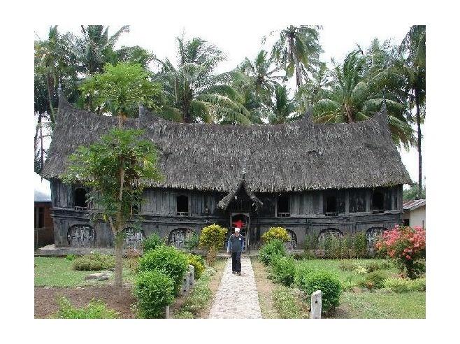 trad minangkabau house.
