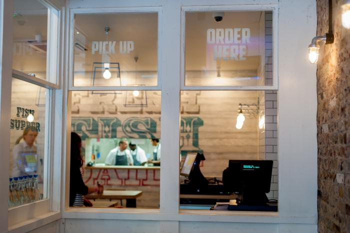 order and take out at Kerbisher & Malt, a modern, British fish and chip shop