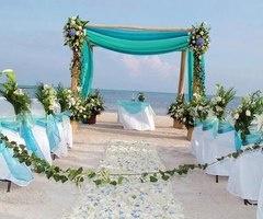 beach wedding Tiffany blue themed
