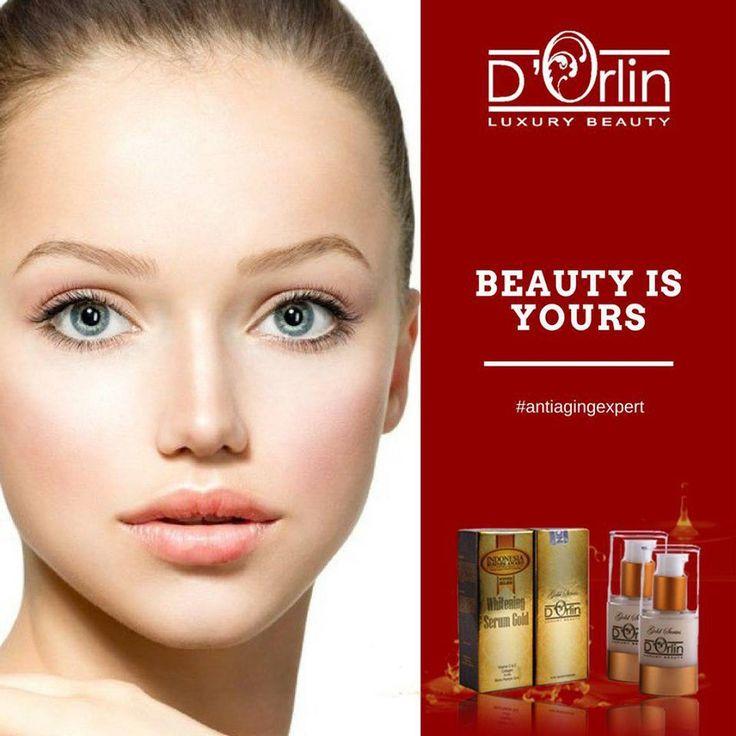 D'ORLIN SERUM GOLD SERIES MAXIMIZER BEST SELLER  - Mengenyalkan mengencangkan kulit wajah - Mengurangi garis kerutan tanda penuaan dini - Untuk kecantikan kulit sekarang & nanti  More info www.orlincosmetics.com
