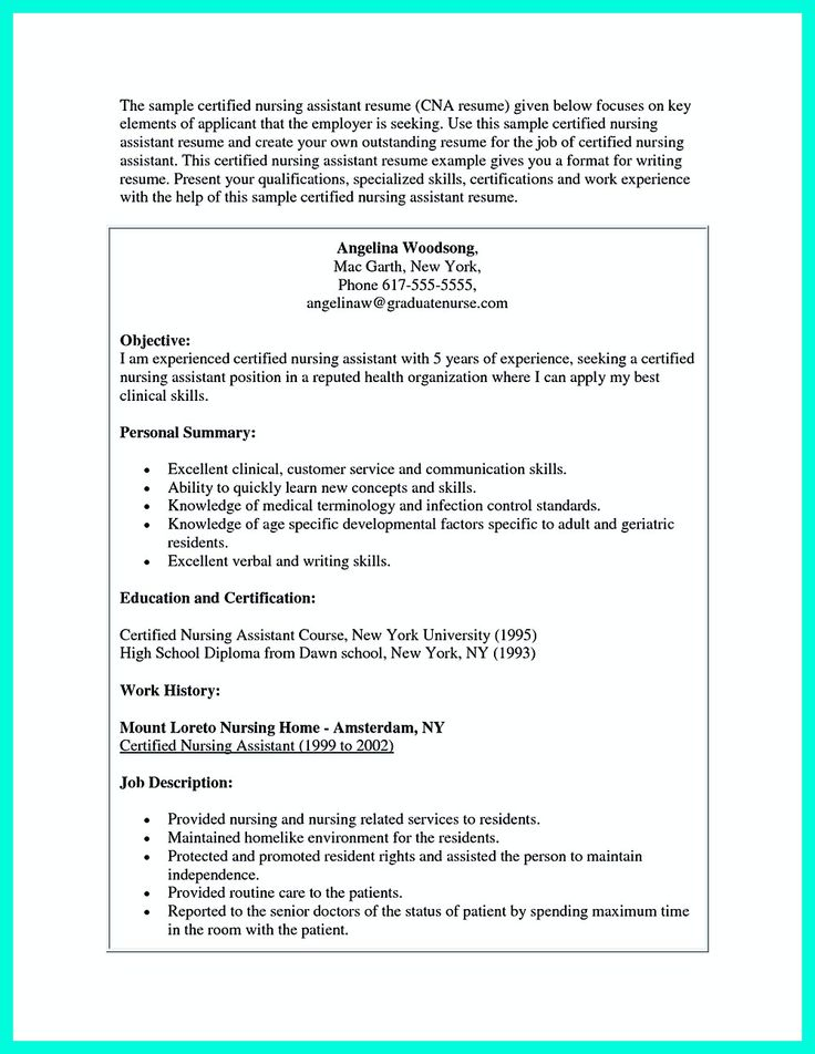It's not quite difficult to make CAN Resume. There are some good choices of CNA Resume Sample. They will include almost the same tips. But in most C... cna resume sample no experience and cna resume example with experience Check more at http://www.resume88.com/mention-great-convincing-skills-said-cna-resume-sample/