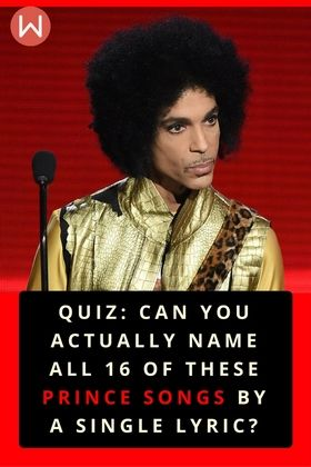 See if you're really Prince's number-one fan by choosing the correct Prince hit song title after reading the lyrics to songs like 'When Doves Cry'. Prince Lyrics challenge, Prince songs trivia.