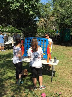 Beer Olympics event: jumbo connect four