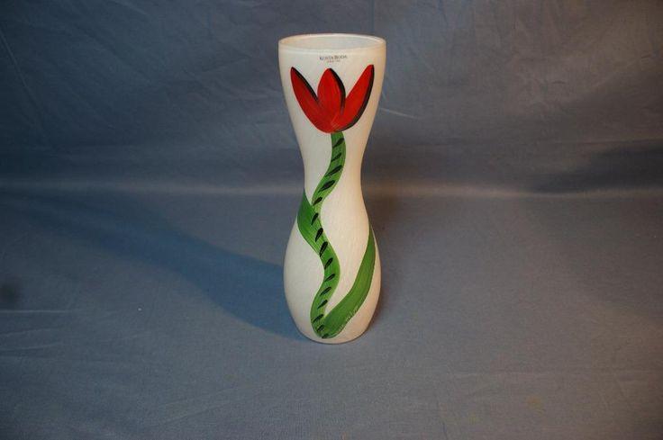Annons på Tradera: Vas, Kosta Boda, Tulipa i Originalförpackning. Höjd: 26cm
