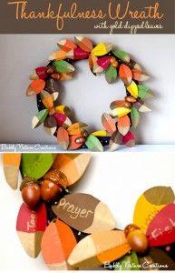 25 Best THANKSGIVING wreaths (DIY Fall Tutorials