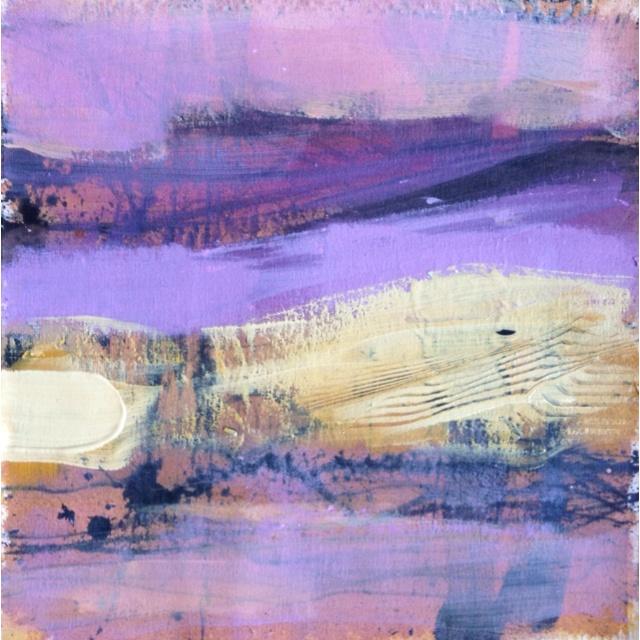 purple landscape 30x30 acrylic