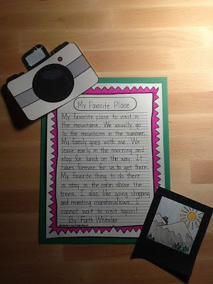 Picture This - Writing Activity   I like the way they added the picture and camera.  Great motivator for older students
