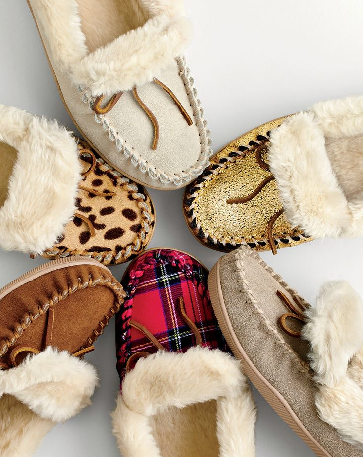 SIZE 10 please .  J.Crew women's lodge moccasins, crackled metallic suede lodge moccasins, red plaid lodge moccasins and leopard calf hair lodge moccasins.
