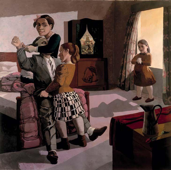 Paula Rego  Paula Rego - The Family  1988, Acrylic on canvas backed paper  213 x 213 cm