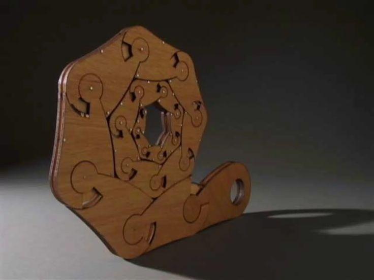 Material: laser-cut plywood John Edmark