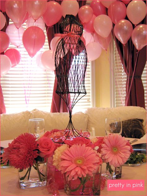 Pretty In Pink baby shower - balloons!