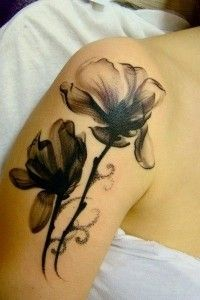 flower tattoo, i would do this in white